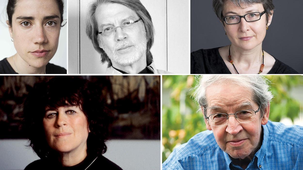 Stéfanie Clermont, René Lapierre, Marie-Pascale Hugo, Marie-Claire Blais et Jacques Brault