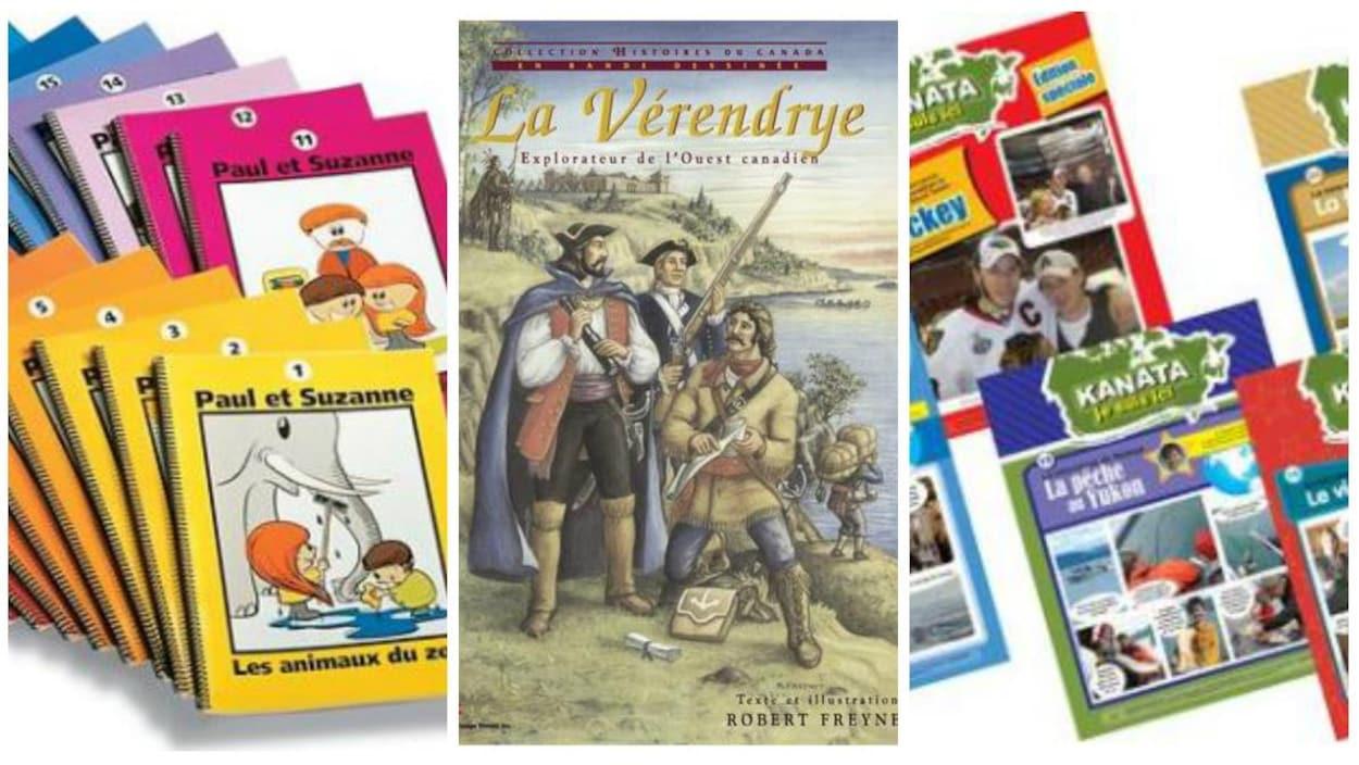 Des couvertures de livres de la maison d'édition Apprentissage Illimité.