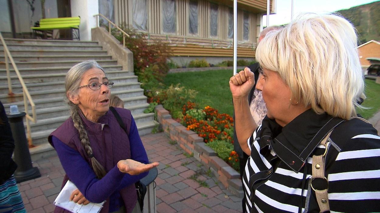 Rose-Hélène Tremblay et Line Cyr ont eu une discussion orageuse.