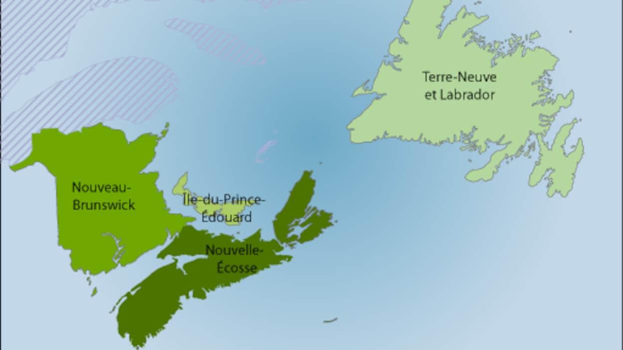 Les provinces Atlantique.