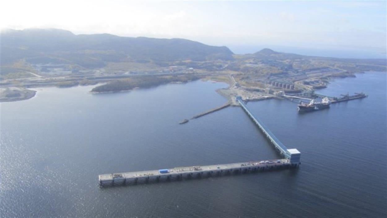 Le quai multiusager du port de Sept-Îles.