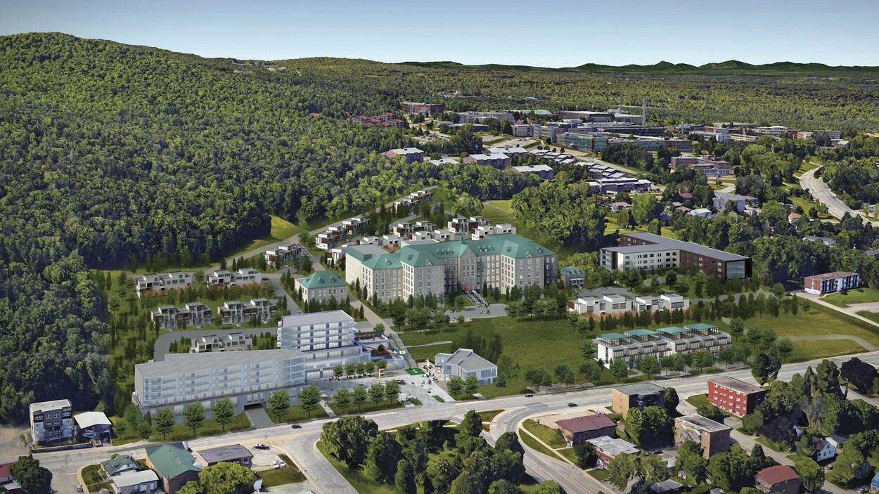 Le concept du « quartier Sainte-Famille » tel que présenté par Services immobiliers First