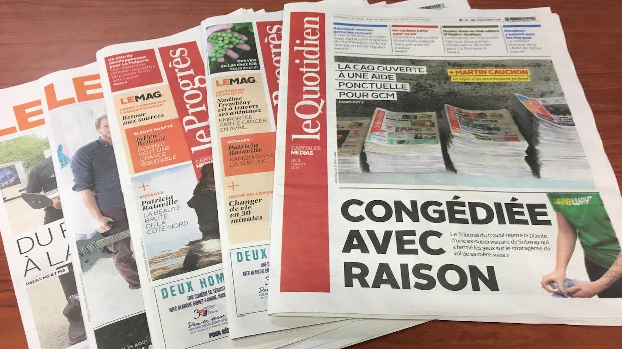 Journaux du Quotidien.