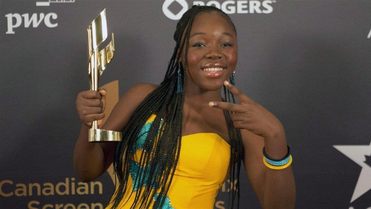 La jeune Rachel Mwanza, lors des Écrans canadiens en 2013.