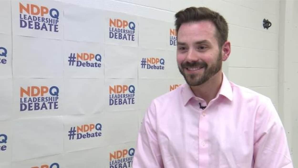 Raphaël Fortin a été élu chef du NPD-Québec le 21 janvier 2018.