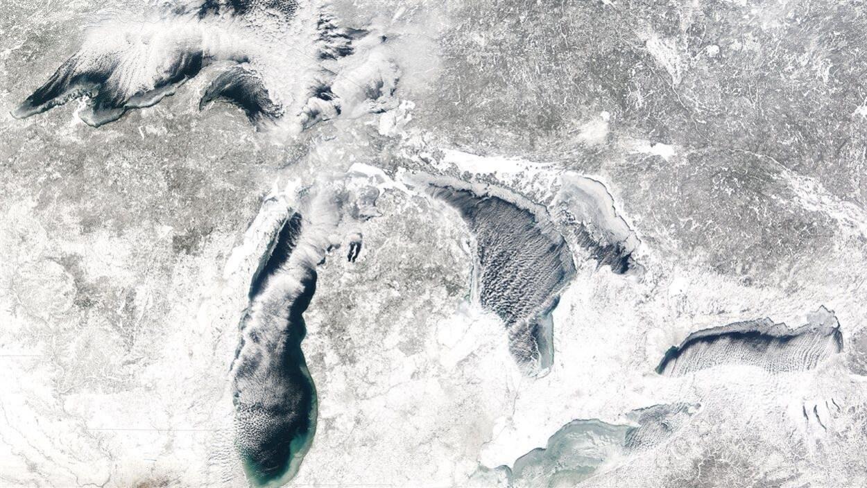 Image des Grands Lacs prise par un satellite de la NASA