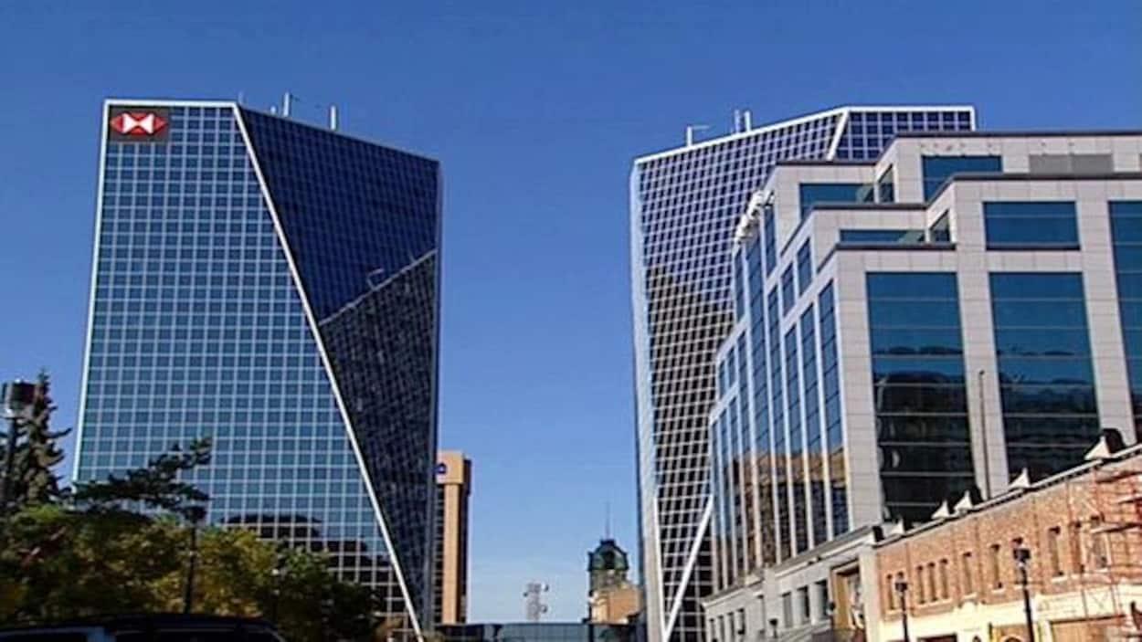 Le centre-ville de Regina en Saskatchewan.