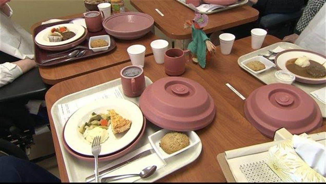 Repas dans un établissement de santé