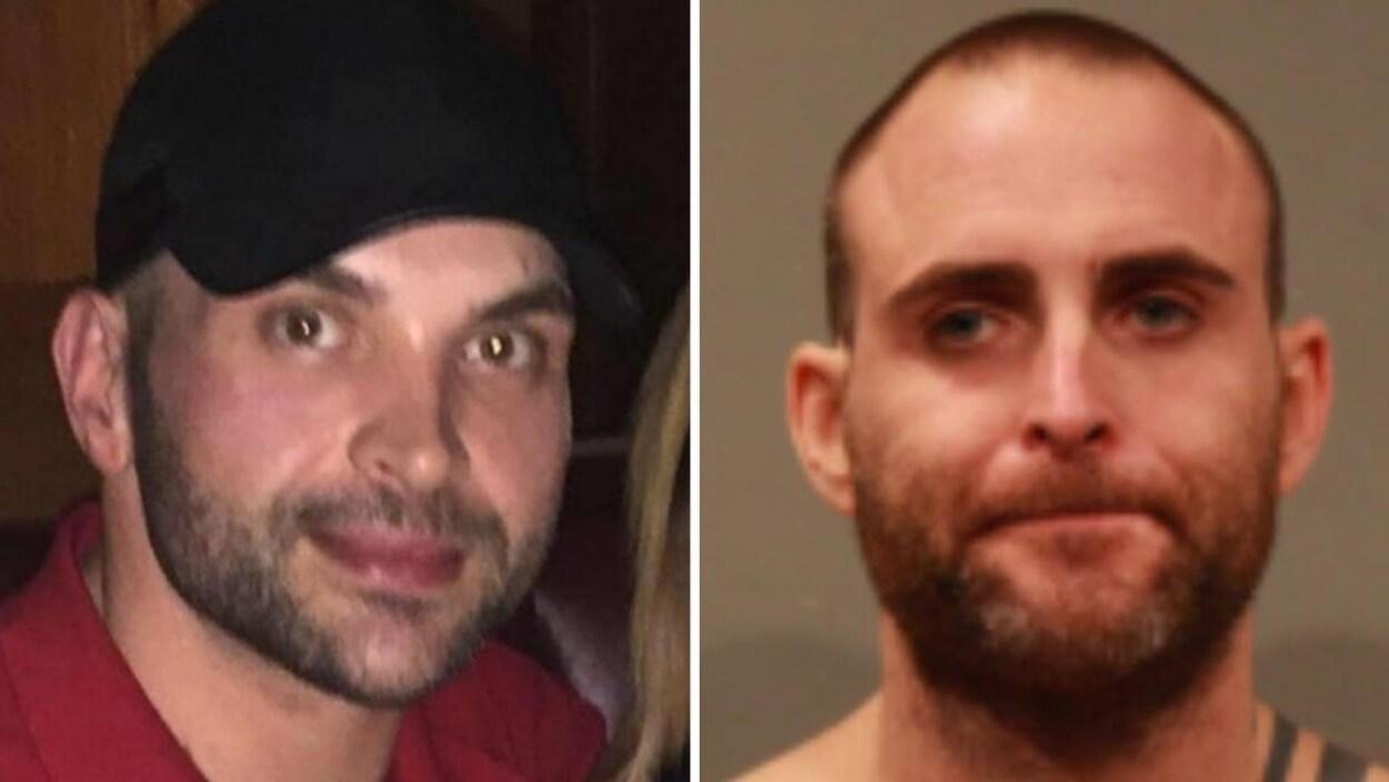 Montage de deux photos montrant un plan serré du visage de Richard Scurr et de Ryan Provencher.