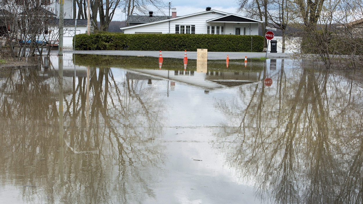 Des inondations à Rigaud
