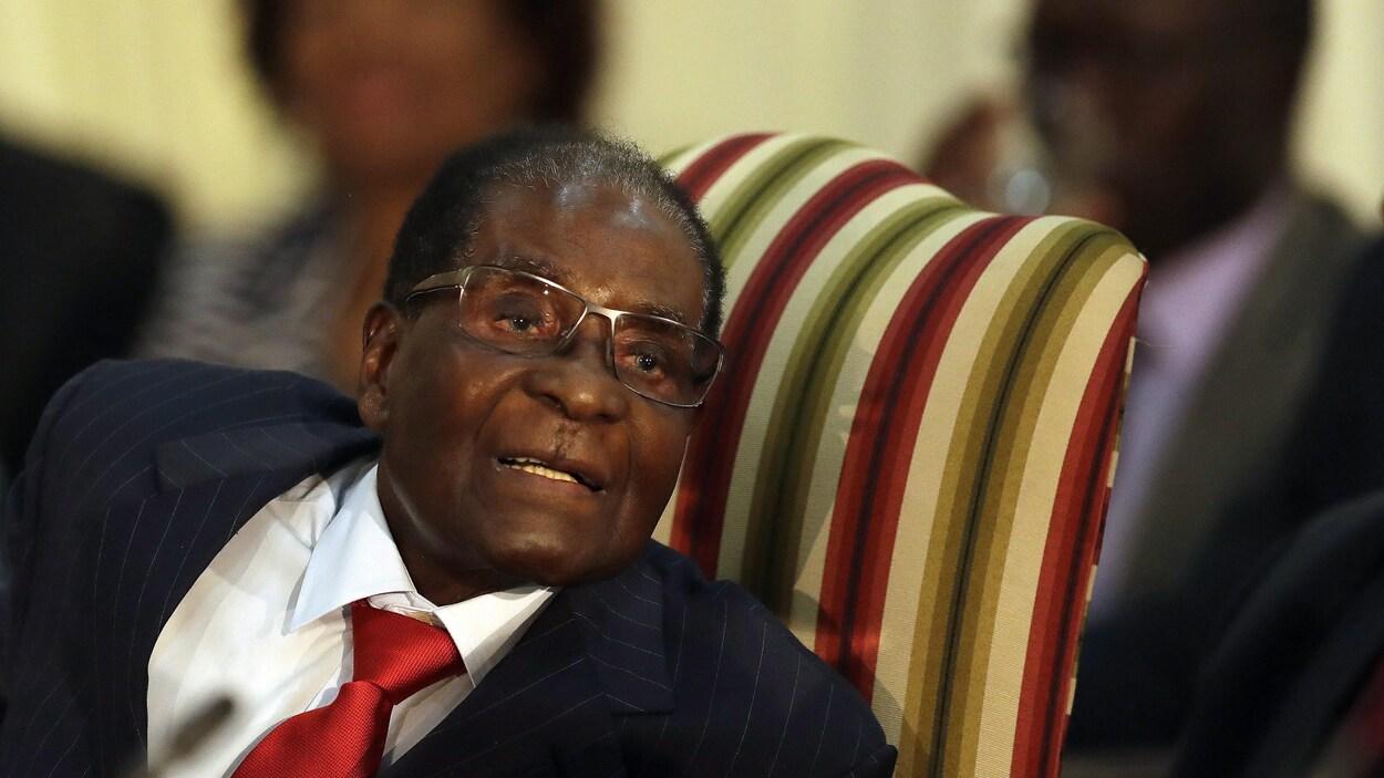 Robert Mugabe, président de Zimbabwe