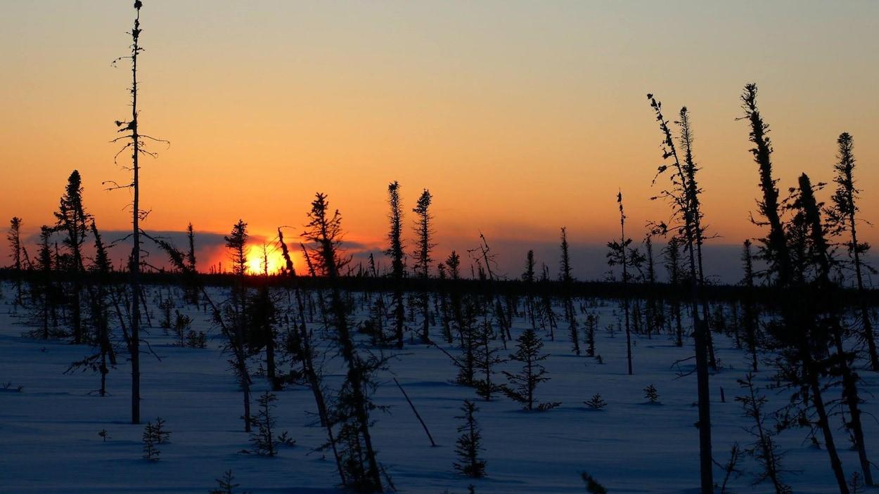 Sur la route du retour, Marc Johnson a pu photographier le coucher de soleil