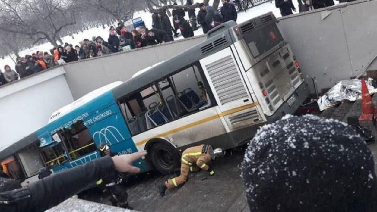 Cinq personnes tuées, fauchées par un bus — Moscou