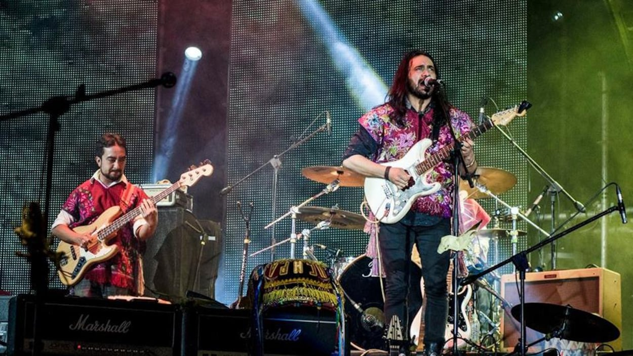 Le groupe lors d'un concert à Guadalajara en 2016.