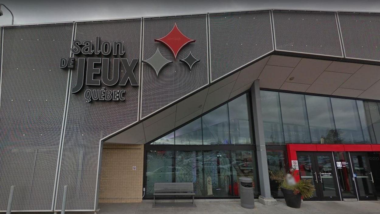 Capture d'écran tirée du site Google Street View montrant l'entrée du Salon de jeux de Québec, situé à l'intérieur du centre commercial Fleur de lys.
