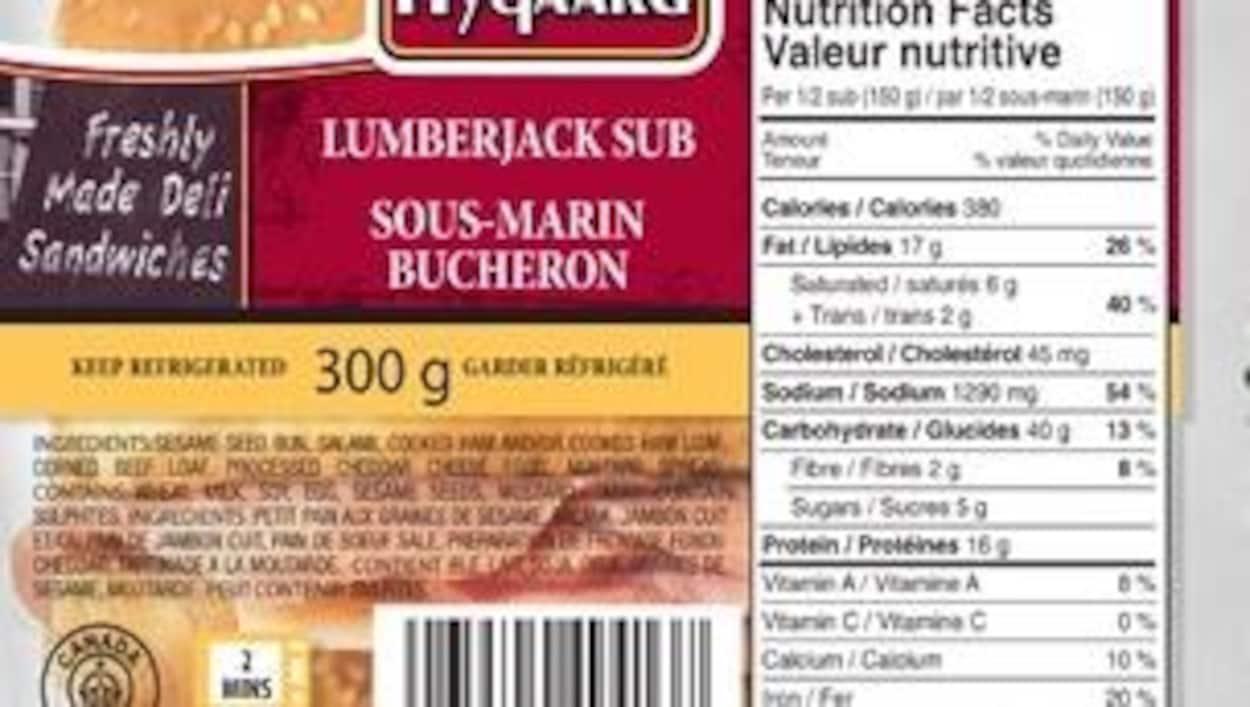 La liste des rappels a été élargie à 36 variétés de sandwichs fabriqués par HQ Fine Foods à Edmonton