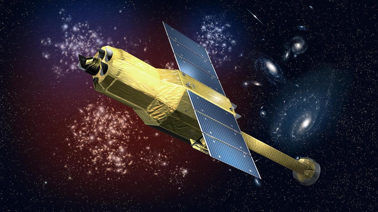Une représentation du satellite japonais Hitomi .