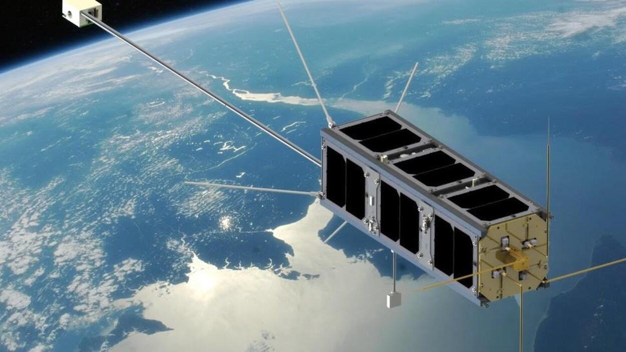 Reproduction du satellite qui sera lancé par des étudiants de l'Université de l'Alberta.