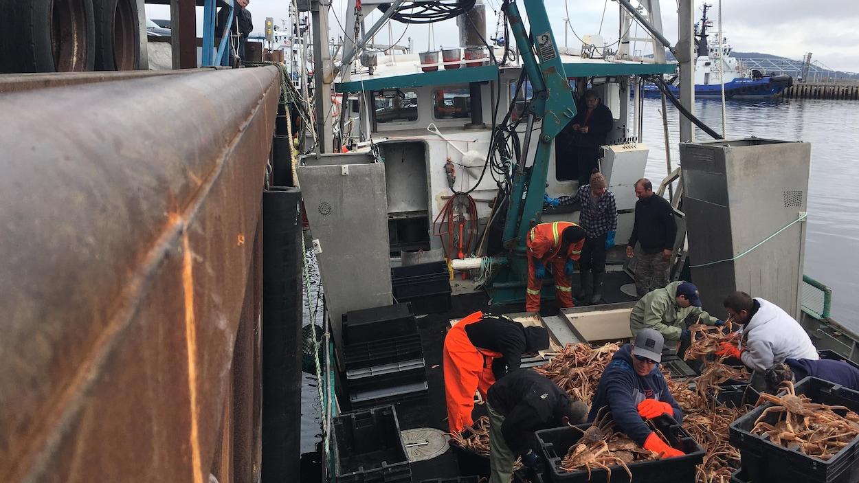La cargaison du LKC a pu être déchargée vendredi à Sept-Îles.