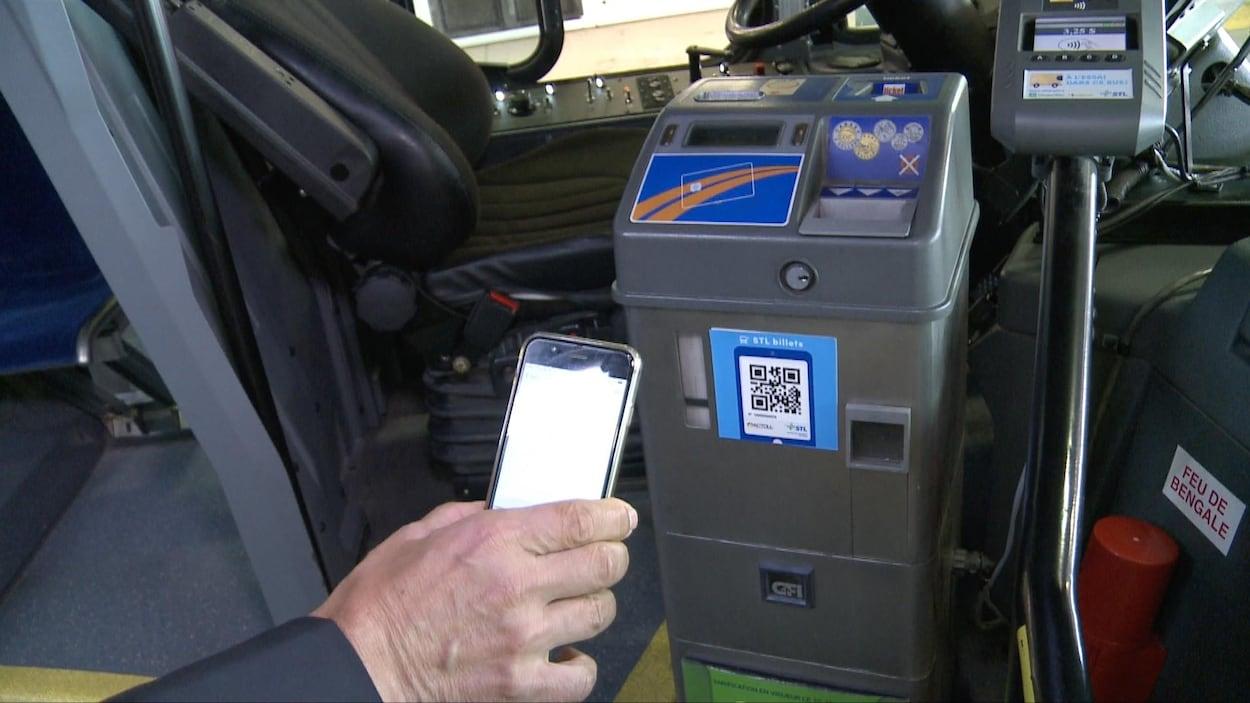 L'application de la STL permet de balayer un code numérique qui entraînera le paiement du titre de transport.