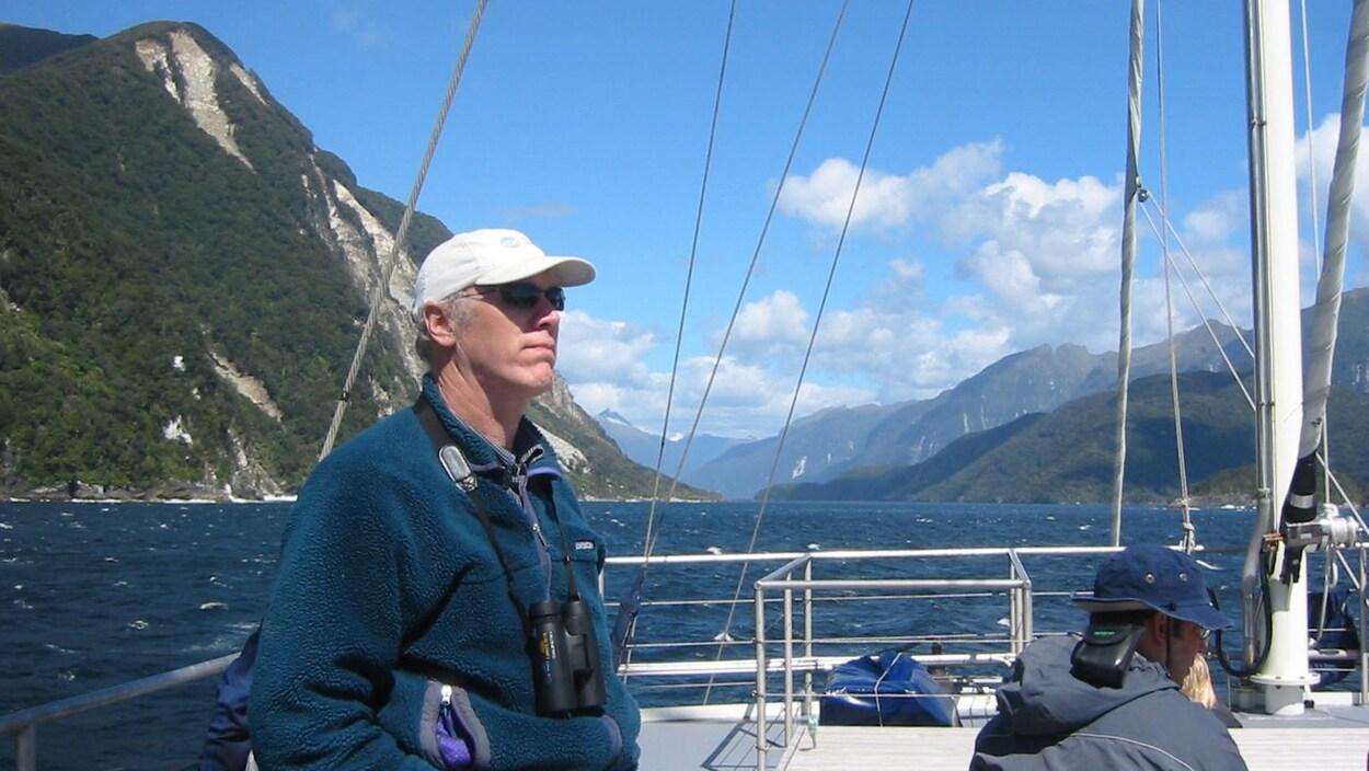 Scott Kraus sur un voilier