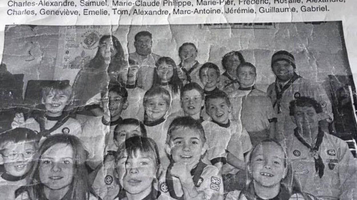 Une photo des enfants accompagne leur message