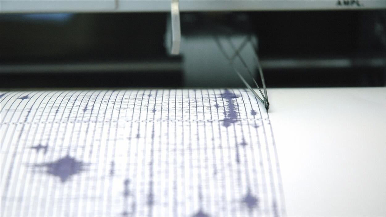 Un sismographe en activité.