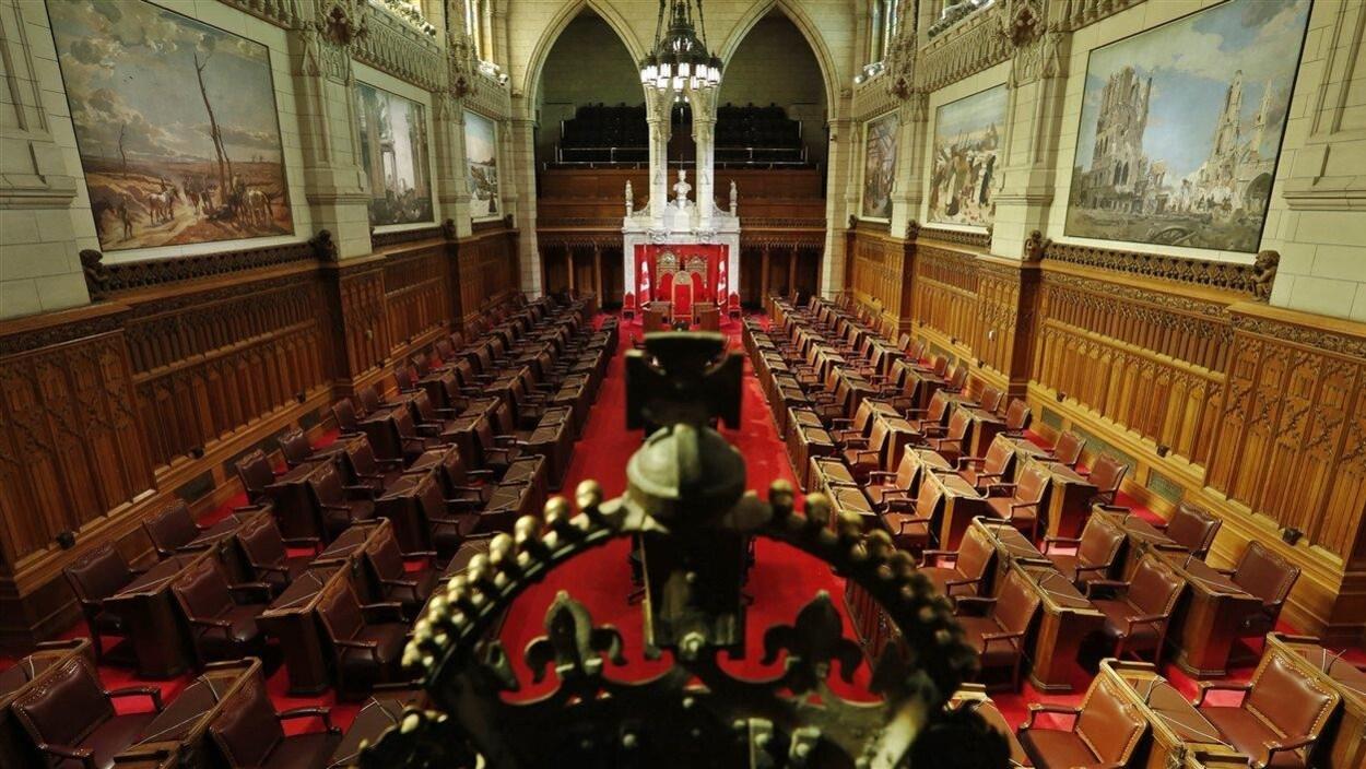 Une vue du Sénat à Ottawa