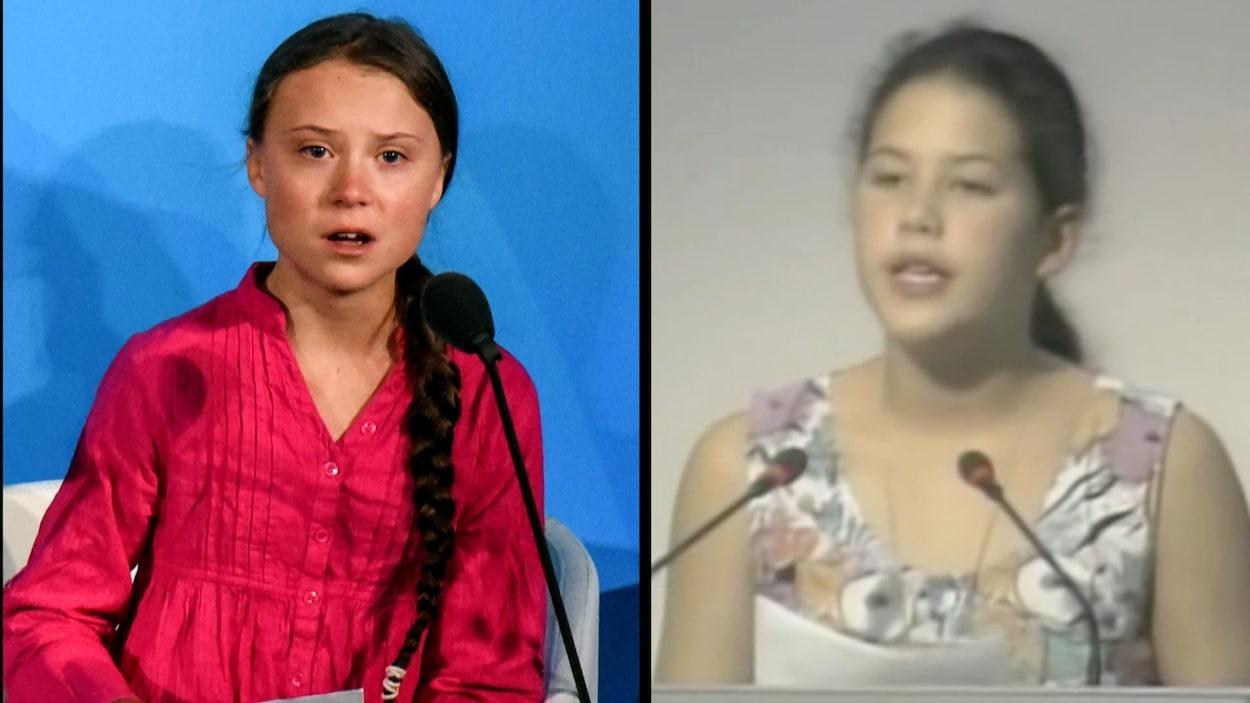Greta Thunberg et Severn Cullis-Suzuki