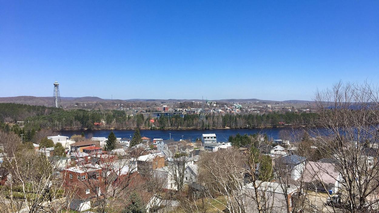 Vue sue la ville de Shawinigan