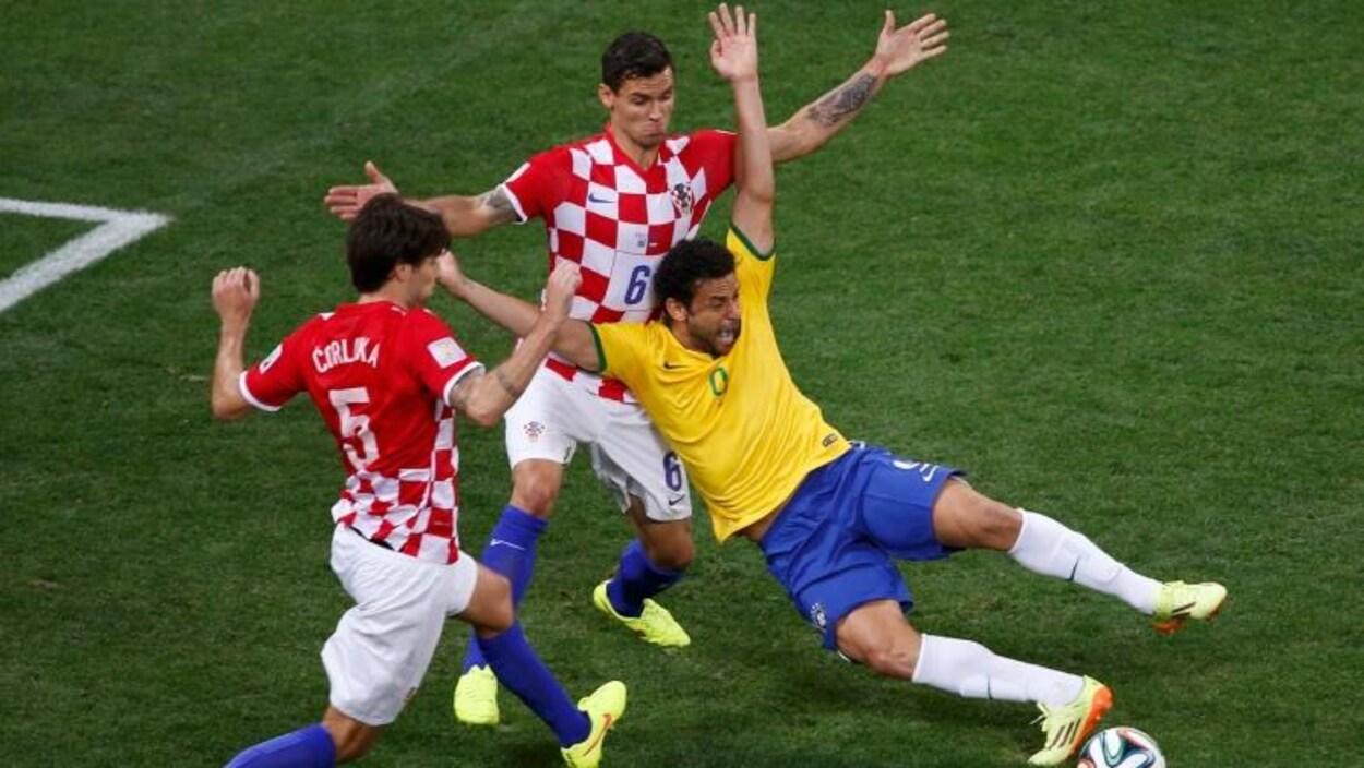 Le Brésil joue contre la Croatie lors de la Coupe du monde de 2014.