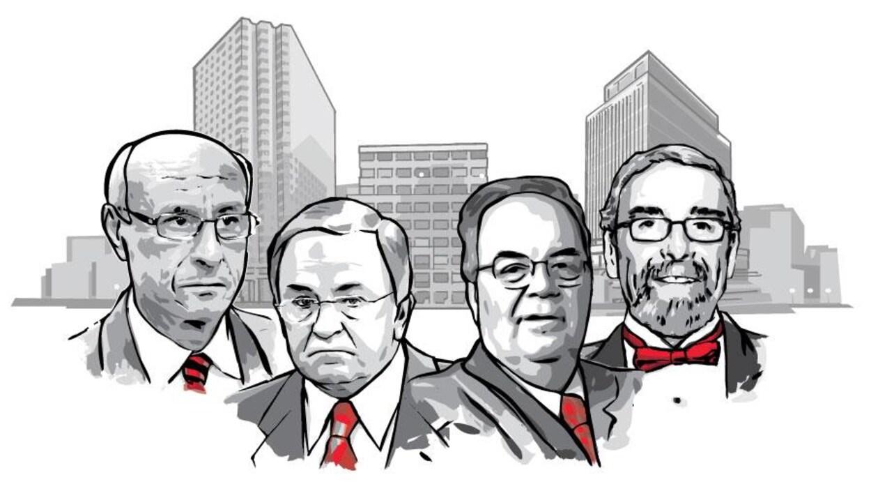 De gauche à droite : Franco Fava, Charles Rondeau, Marc-André Fortier et William Bartlett