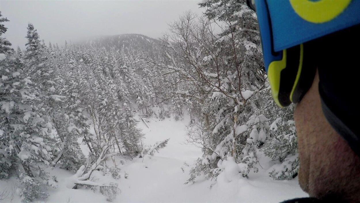 Ski hors piste dans le parc de la Gaspésie