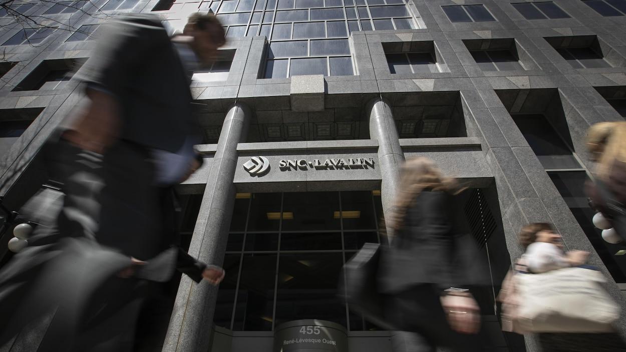 Les bureaux de SNC-Lavalin à Montréal.