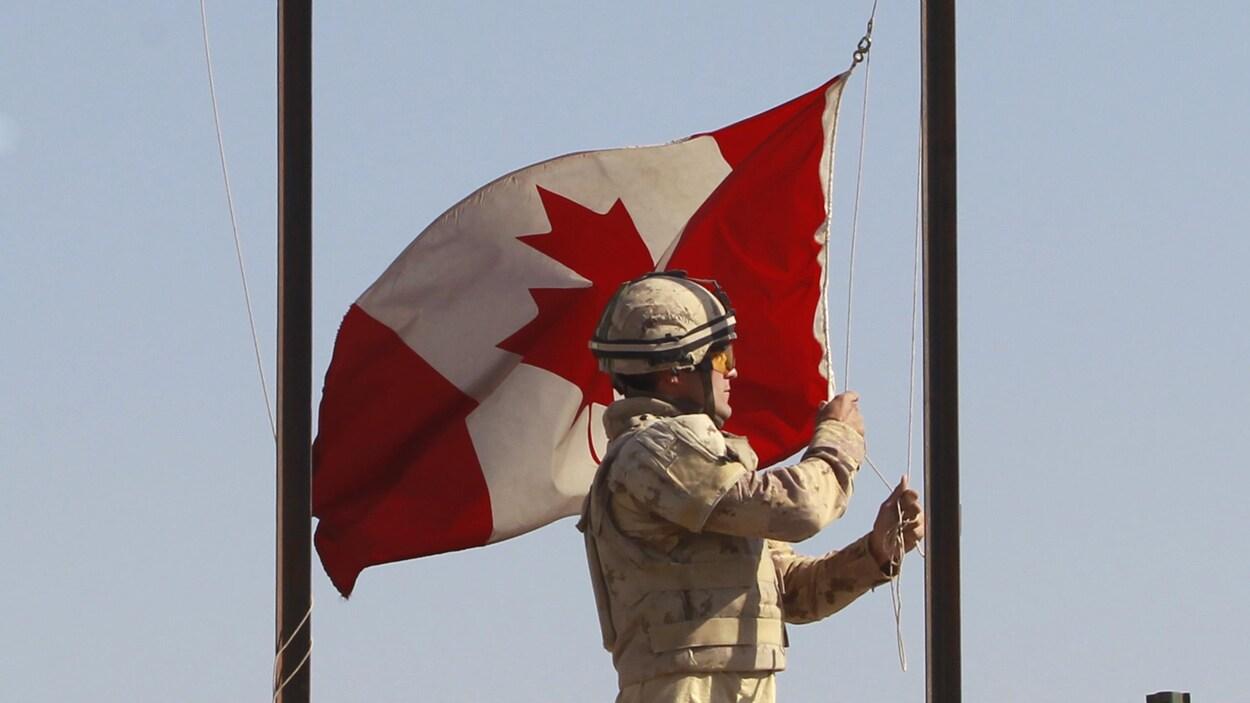 Un soldat de l'armée canadienne.