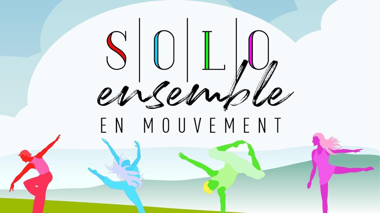 Image graphique avec des silhouettes de danseurs et de danseuses.