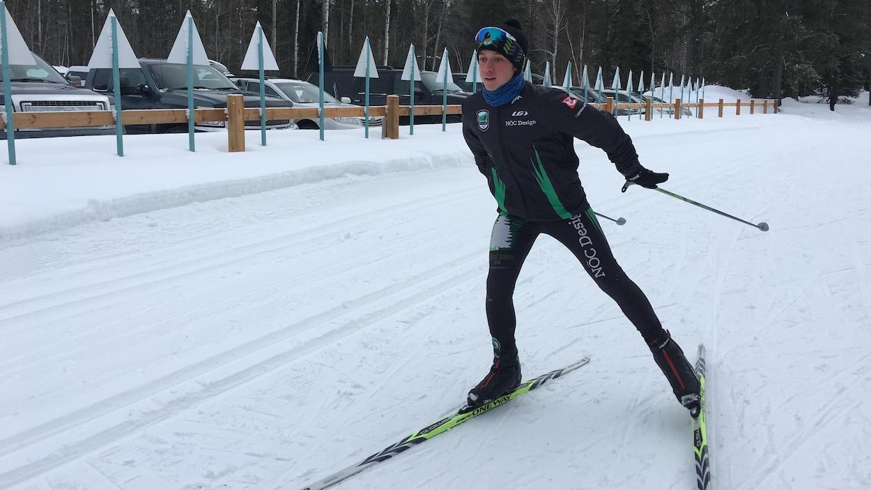 À 12 ans, Solstice Lanoix a été nommé l'athlète par excellence pour la discipline du ski de fond à la Finale régionale centralisée des Jeux du Québec.
