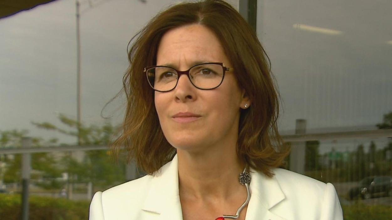 La rectrice de l'Université Laval, Sophie D'Amours