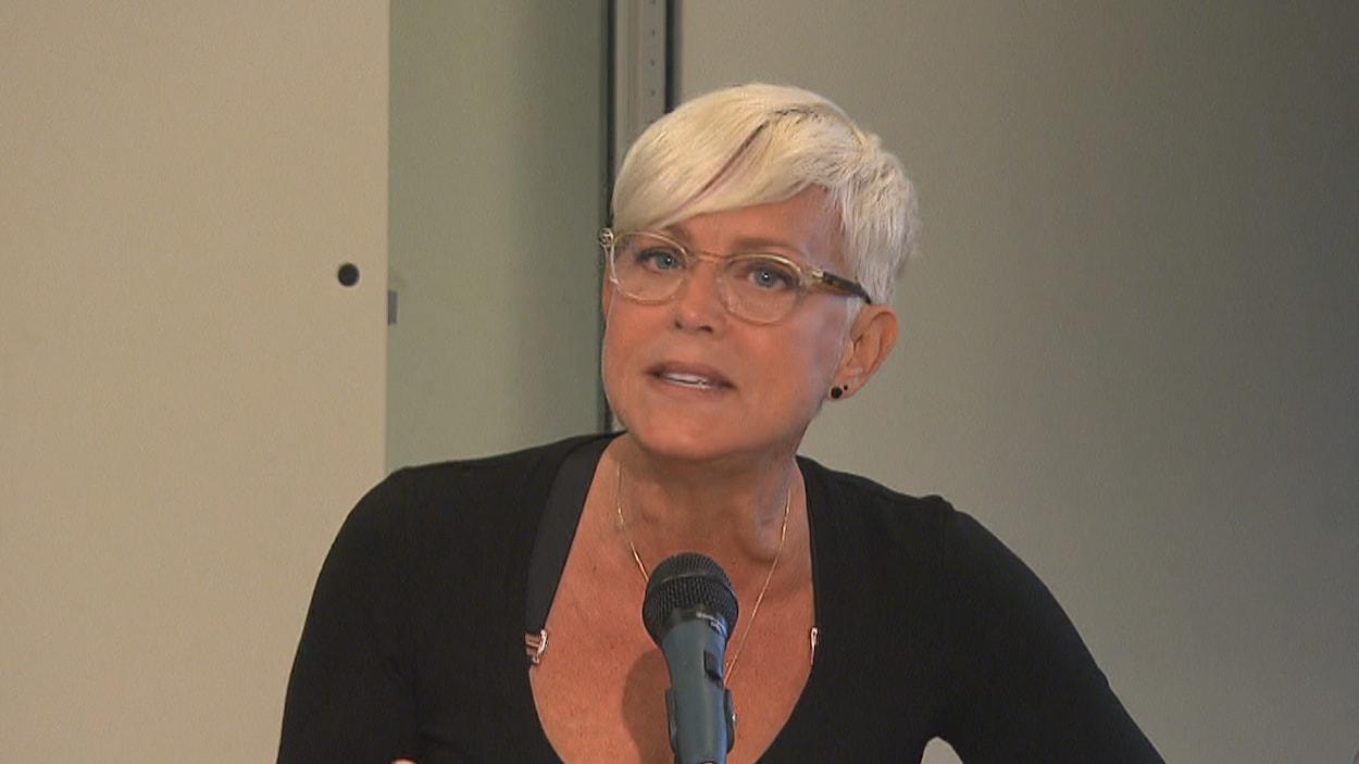 Sophie Prégent en conférence de presse
