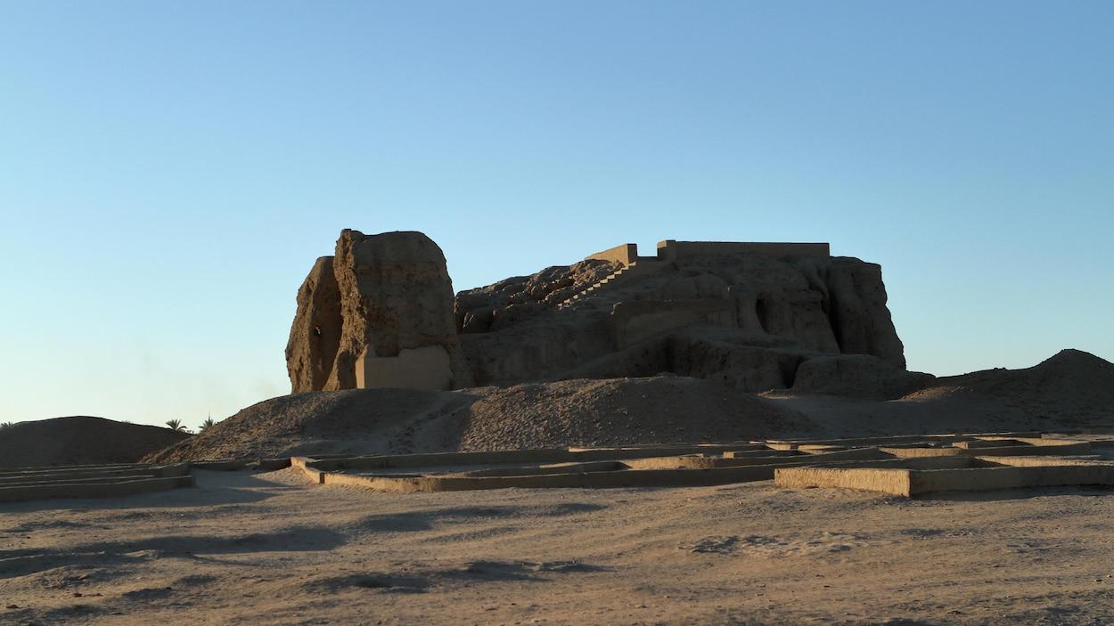 Le château de Deffufa de Kerma au Soudan
