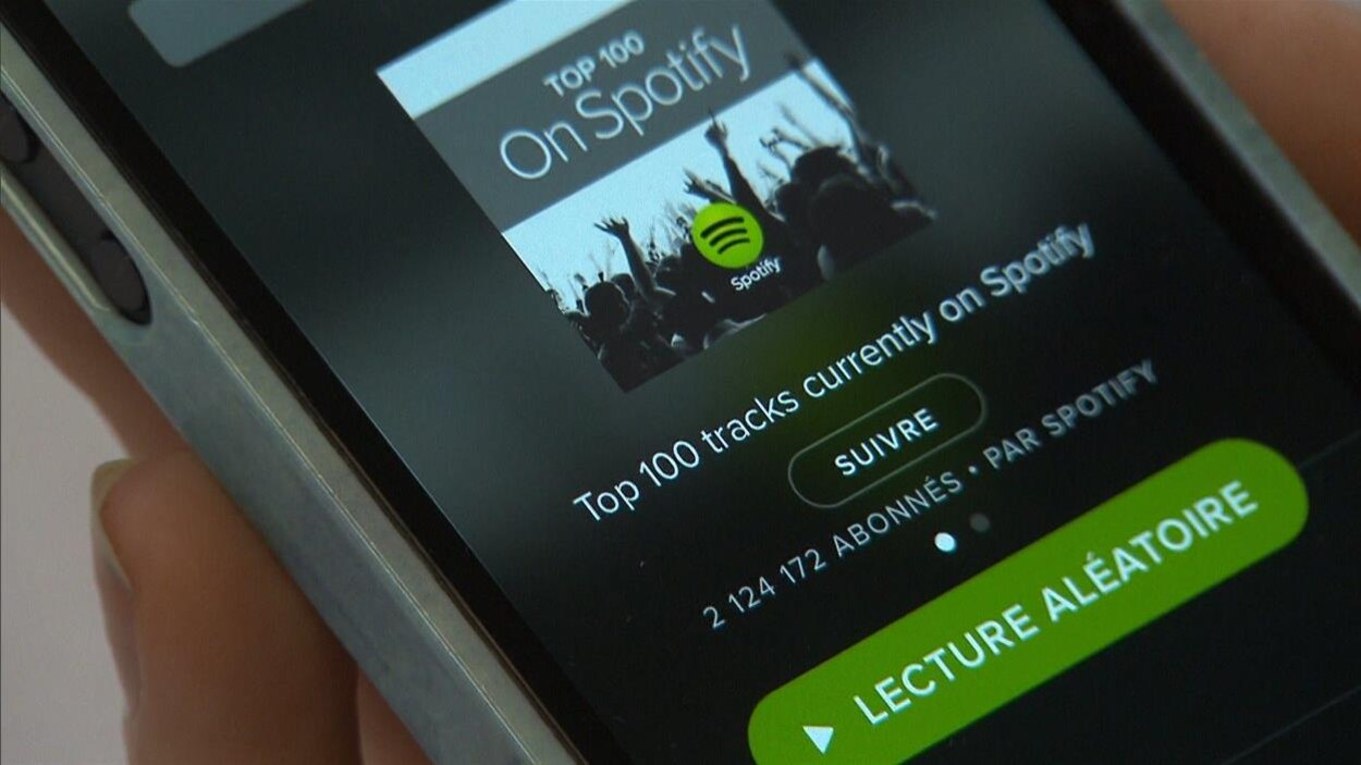 Un logiciel de lecture de musique sur un appareil portable.