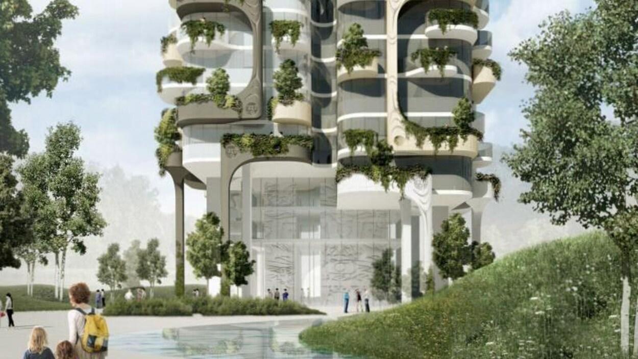 Plan d'un édifice moderne.