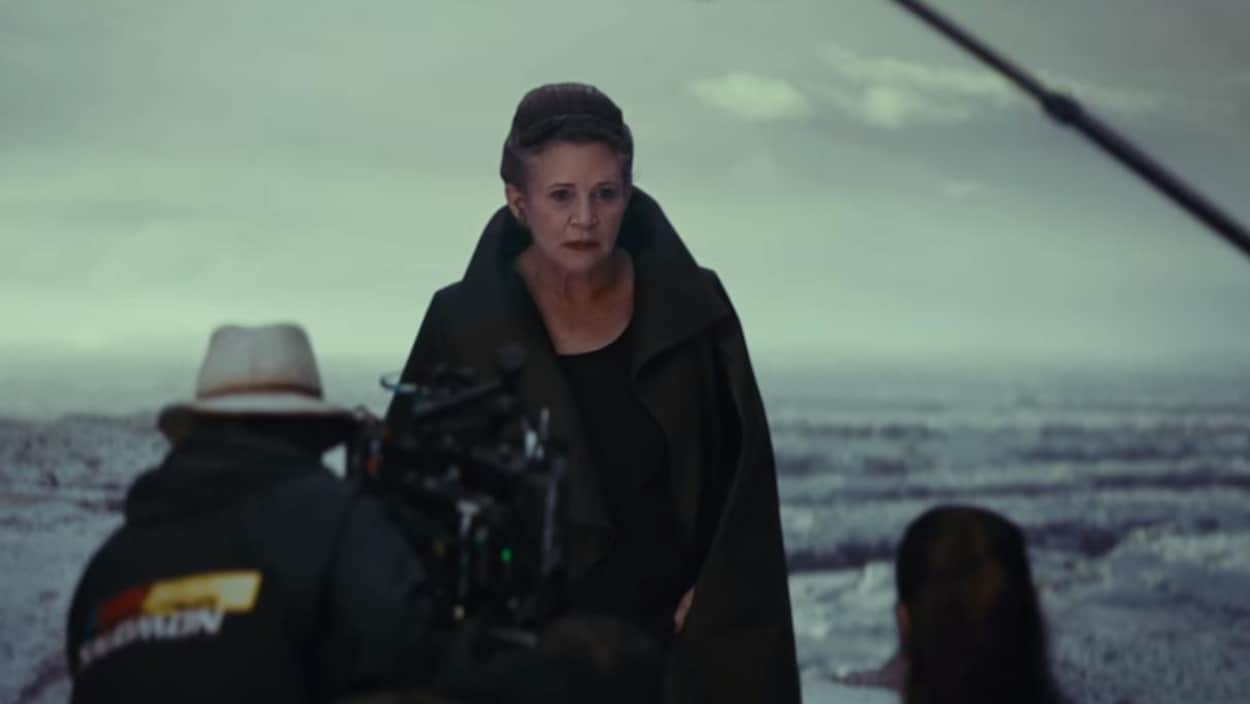 Carrie Fisher lors du tournage de «Star Wars: les derniers Jedi».