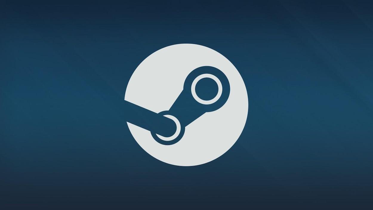 Le logo de la plateforme de distribution de jeux vidéo Steam.