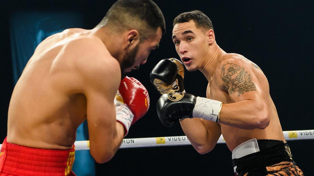 Steven Butler affronte Jesus Antonio Gutierrez au gala de boxe présenté à Rimouski.