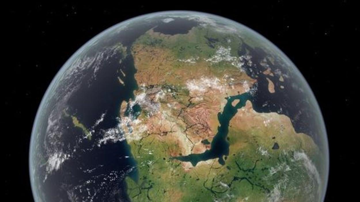 Illustration de l'apparence de la Pangée.