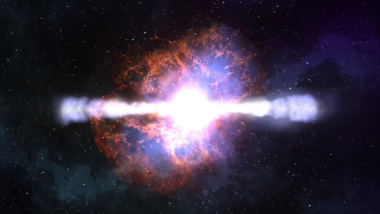 Représentation artistique d'une supernova.