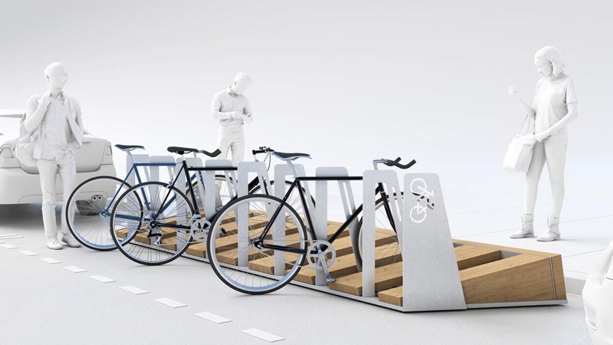 Le support à vélo « Québec à vélo » de Para-Sol
