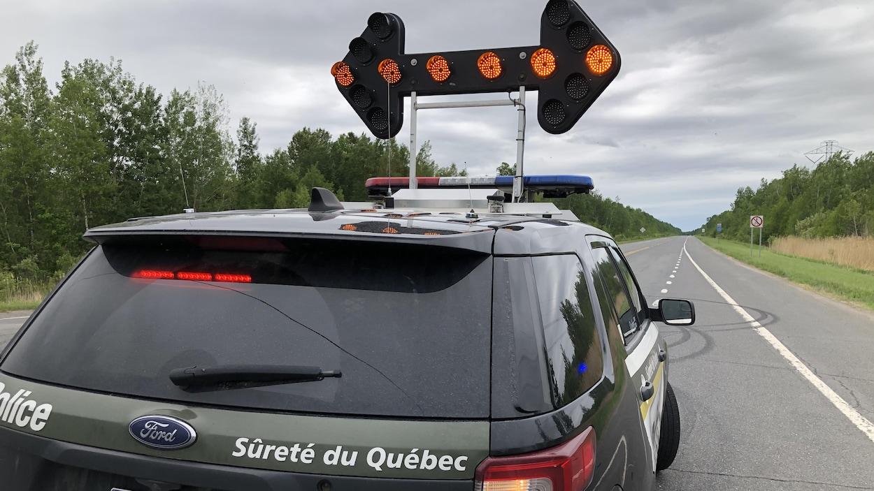 Un véhicule de la Sûreté du Québec.