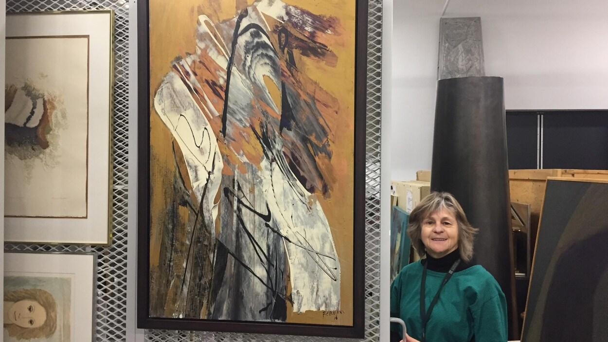 La coordonnatrice des expositions et de l'animation à la Galerie d'art du Centre culturel de l'Université de Sherbrooke, Suzanne Pressé